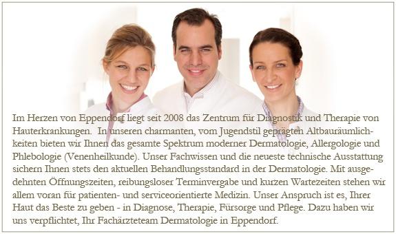 Dermatologie in Eppendorf-Privatpraxis Dres. med. Kathi Turnbull, Philip Flammersfeld; Lilia Plate, Alexandra Gust