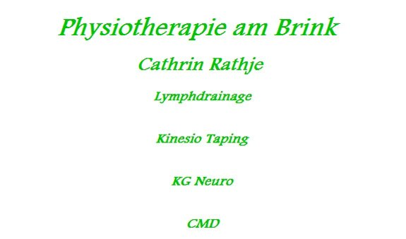 Physiotherapie am Brink Cathrin Rathje