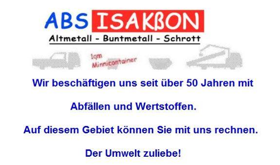 ABS Isakßon Altmetalle - Buntmetall - Schrott