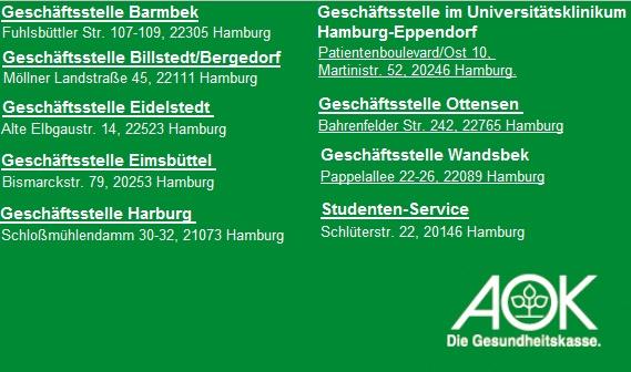 AOK Rheinland/Hamburg - Die Gesundheitskasse Regionaldirektion Hamburg