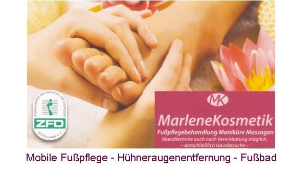 Marlene Kosmetik, Mobile Fußpflege