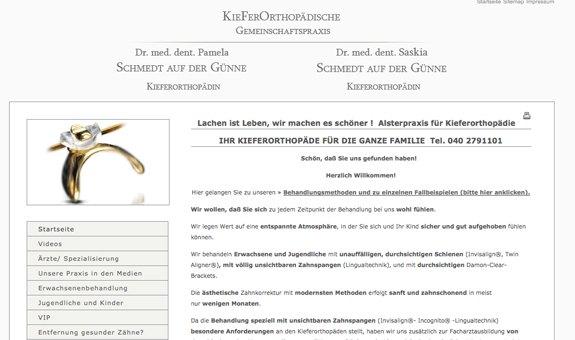 Alster KFO Alsterpraxis für Kieferorthopädie Dr. Pamela und Dr. Saskia Schmedt auf der Günne
