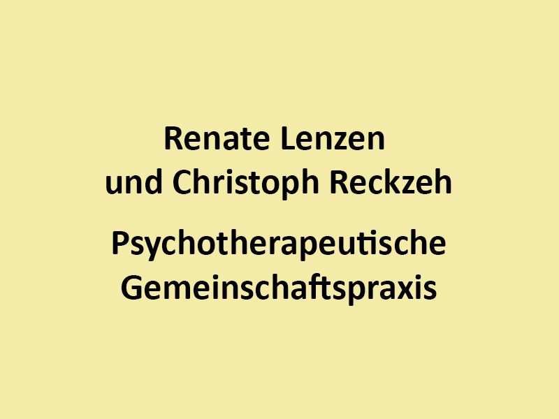 Lenzen Renate und Reckzeh Christoph
