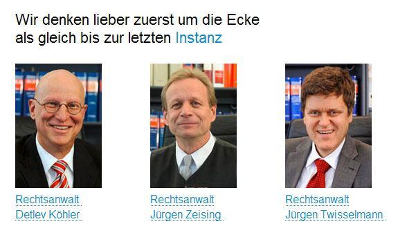 Rechtsanwälte Zeising, Köhler, Twisselmann