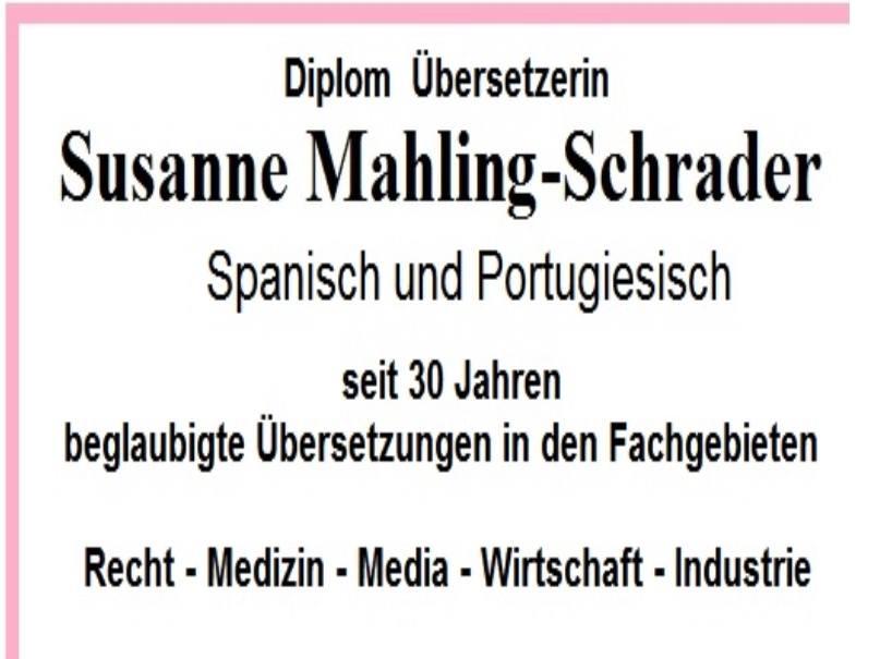Susanne Mahling-Schrader