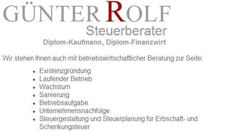 Rolf Günter Steuerberater