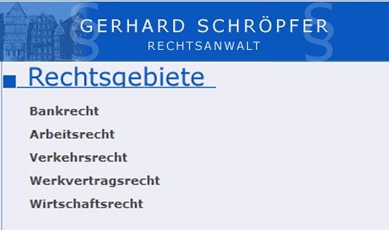 Schröpfer Gerhard Rechtsanwalt