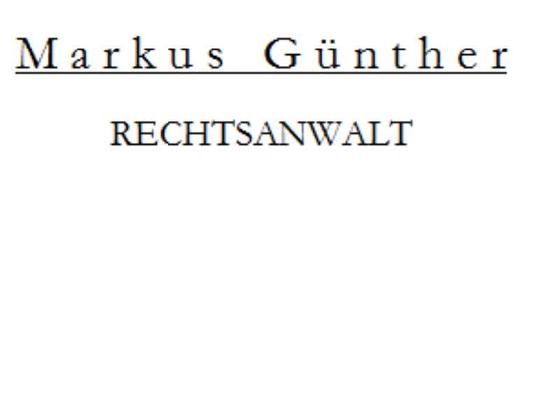 Günther Markus Rechtsanwalt