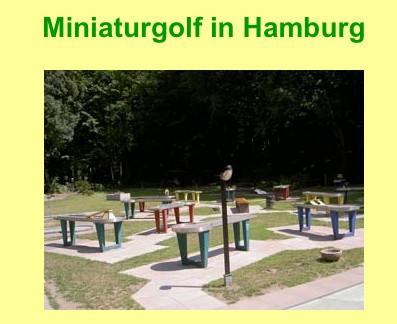 Minigolf-Anlage im Altonaer Volkspark