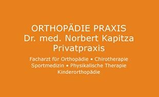 Kapitza Norbert Dr. med Privatpraxis für Orthopädie