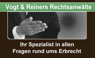 Anwaltskanzlei Wolfgang R. Vogt Fachanwalt für Erbrecht, weiterer Schwerpunkt: Steuerrecht Johanna Vogt Rechtsanwältin