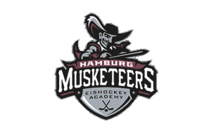 Logo von Hamburger Eishockey Academy e.V., Hamburg Musketeers, i. Hs. NORDGLAS GmbH
