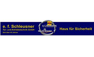 Logo von e. f. Schleusner Tor- u. Antriebstechnik GmbH Alarmanlagen Tortechnik Antriebstechnik
