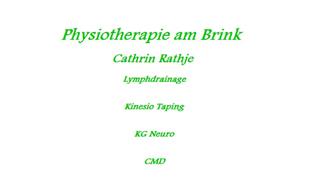 Bild zu Physiotherapie am Brink Cathrin Rathje in Hamburg