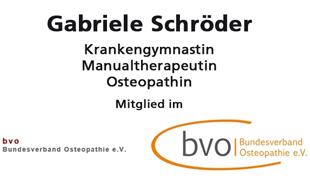Bild zu Krankengymnastik und Osteopathin Gabriele Schröder in Hamburg