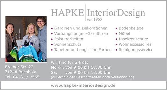 HAPKE | InteriorDesign seit 1965 Inh. Ulrich Hapke e.K.