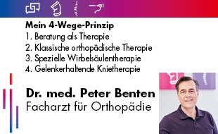 Bild zu Benten, Peter Dr. med., Facharzt für Orthopädie in Oberhausen im Rheinland